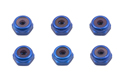 Image Of Associated Anodised Blue Locknuts 4-40 x 5/16