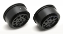 Image Of Associated SC10 KMC 1/10th Off-Road Rear Wheels (2) - Black