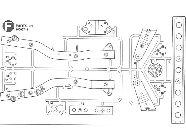 Tamiya F Parts for 58242 (Wild Willy) 0005748