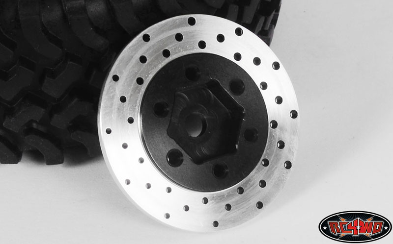 RC4WD ZS0530 1.9/2.2 6 Lug Steel Wheel Hex Hub with Brake Rotor  Z-S0530