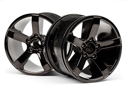 HPI Bullet Mt Wheels Black Chrome (pr) 101309