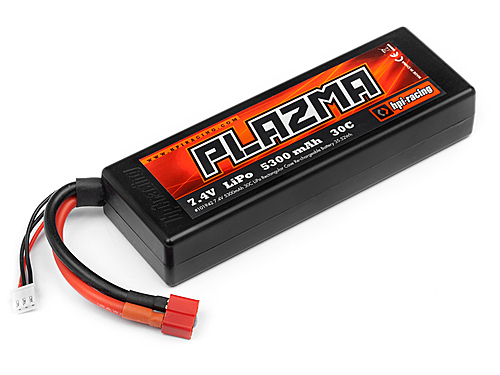 HPI Plazma 7.4v 5300mah 30c Lipo Rectangular Hard Case Stick Pack 39.2 Wh 101942