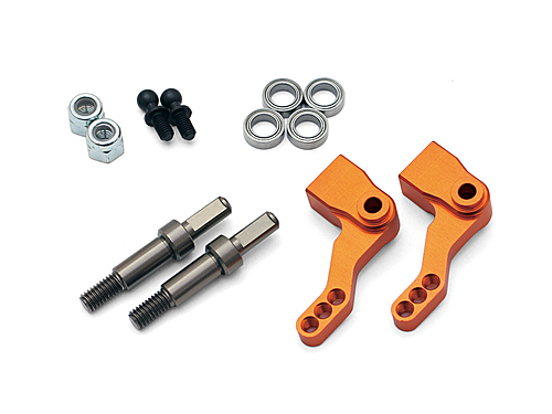 HPI Aluminum Steering Knuckle Set (foam Tire/orange) 103023