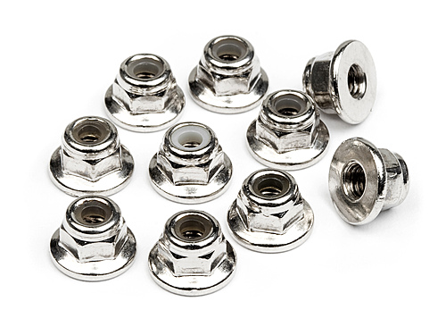 Image Of HPI Flanged Lock Nut M3 (10pcs)