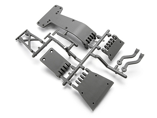 HPI High Performance Skid Plate Set (gray) 104665