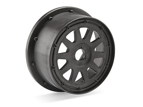 Image Of HPI Tr-10 Wheel Gunmetal (120x60mm/-4mm Offset)