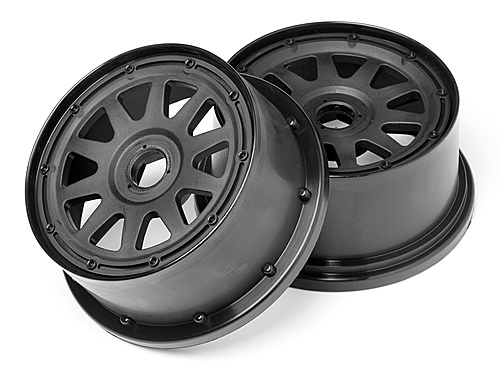 Image Of HPI Tr-10 Wheel Black (120x60mm/-4mm Offset)