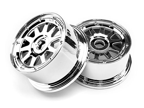 Image Of HPI Tr-10 Wheel Chrome (120x65mm/-10mm Offset)