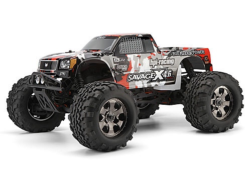 HPI Nitro Gt-3 Truck Painted Body (gray/red/black) 105898