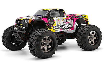 HPI Nitro Gt-3 Truck Painted Body (yellow/pink/black) 105897