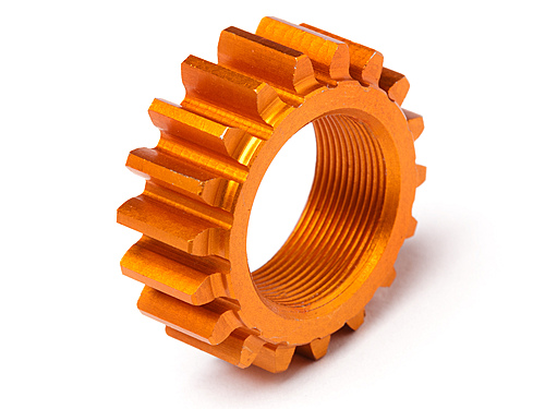 HPI Threaded Pinion 18tx12mm (1m) (orange) 106630