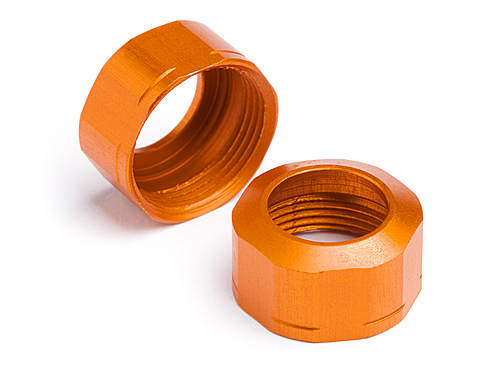 HPI Shock Cap 12xm13x0.8mm (orange/grooved/2pcs) 106633