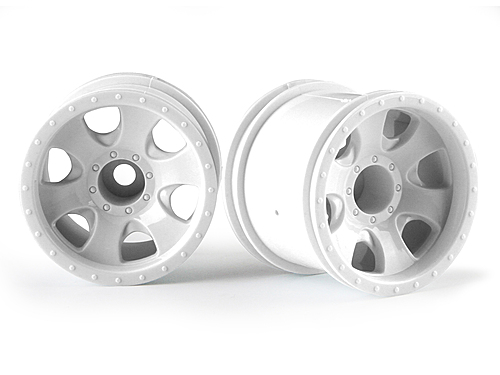 HPI Warlock Wheel White (2.2in/2pcs) 106726