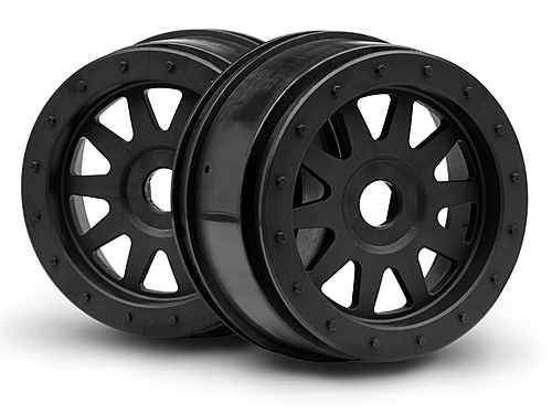 HPI Tr-10 Glue-lock Wheel Black (120x60mm/2pcs) 106896