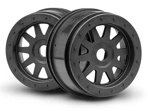 Image Of HPI Tr-10 Glue-lock Wheel Gunmetal (120x60mm/2pcs)