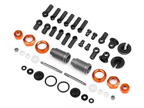 Hot Bodies Competition Aluminum Shock Set (orange/46-56/2pcs) 108679