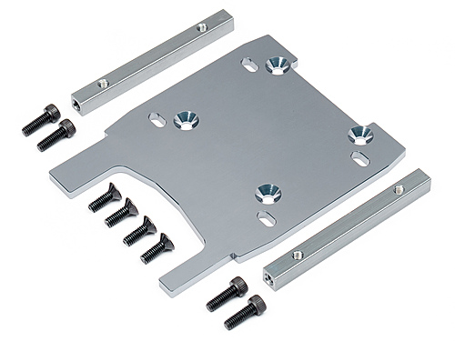 HPI Engine Plate (gray/4mm) 108956