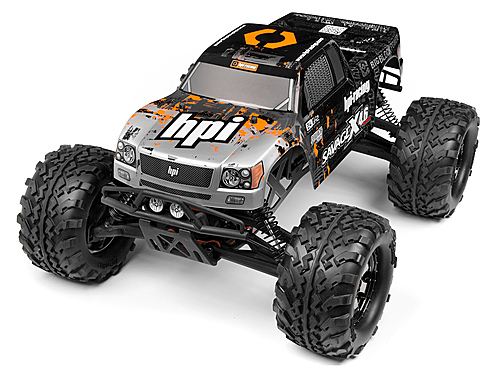 HPI Nitro Gt-3 Truck Painted Body (silver/black) 109883
