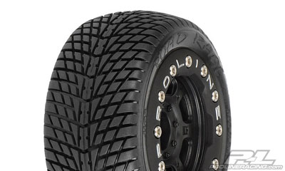 Pro-Line Road Rage Street 1:16 Tires Mounted on Titus Bead-Loc Wheels PL1102-13