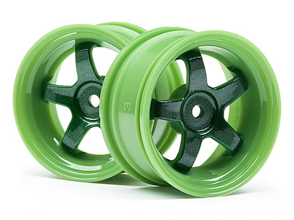 HPI Work Meister S1 Wheel Green (3mm Offset/2pcs) 111090