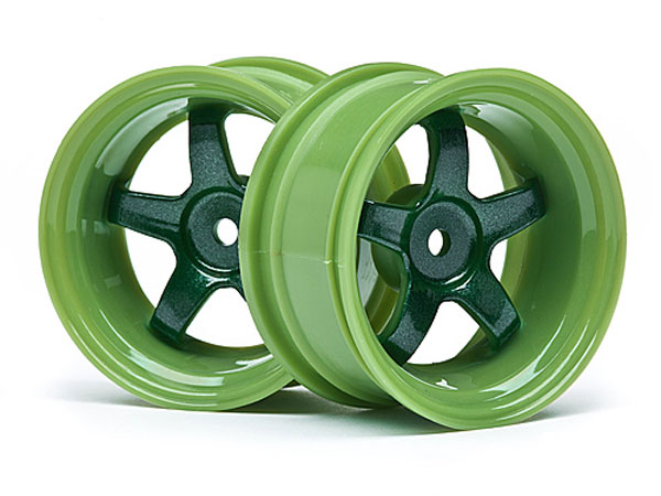 HPI Work Meister S1 Wheel Green (6mm Offset/2pcs) 111091