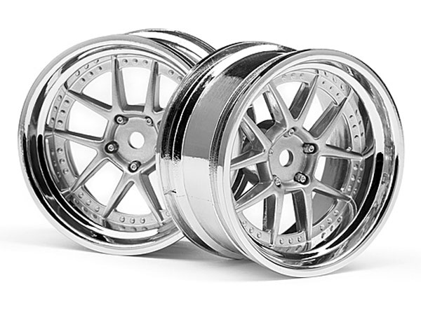 HPI Dy-champion 26mm Wheel (chrome/silver/6mm Os/2pcs) 111276