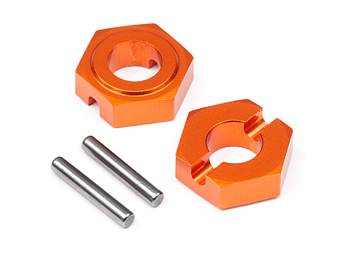 Image Of Hot Bodies Aluminum Hex Hub 9.8mm (front/2pcs)