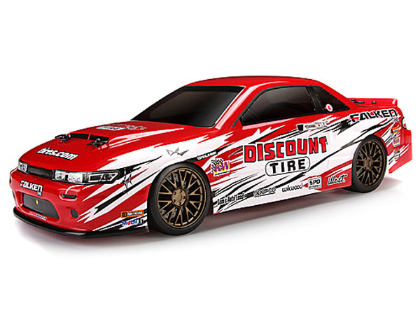 HPI Nissan S13/Discount Tire Painted Body (140mm) 113082