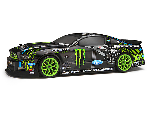 HPI 2013 Ford Mustang Vaughn/monster/nitto Painted Body (200mm) 113085