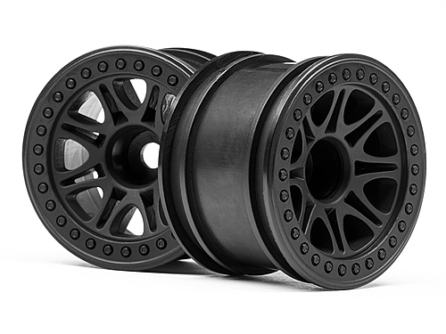 HPI Split 8 Truck Wheel (black/2pcs) 113337