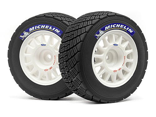 HPI Wr8 Rally Off-road Wheel/tire Set (white/2pcs) 113850