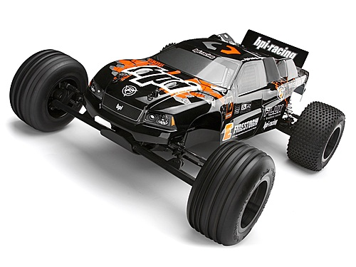 HPI Dsx-2 Truck Painted Body (black/orange) 114182