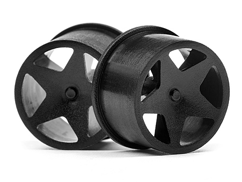 HPI Q32 Super Star Wheel Set F/r (blk/18x10/18x14/4pcs) 114276