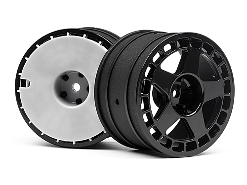 "HPI Fifteen52 Turbomac Wheel Black (2.2""/57x35mm/2pcs) 114367"