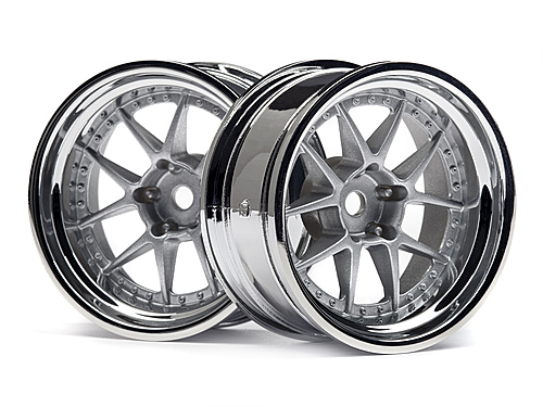 HPI Dy-champion 26mm Wheel (chrome/silver/9mm Os/2pcs) 114636