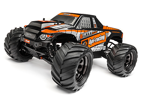 HPI Bullet Mt Clear Body W/ Nitro/flux Decals 115515