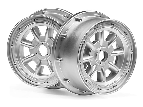 HPI Ml-8 Wheel Silver (120x60mm/2pcs) 115765