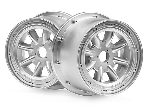 Image Of HPI Ml-8 Wheel Silver (120x75mm/2pcs)
