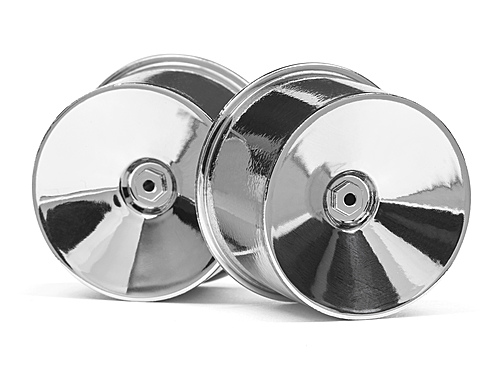 HPI Q32 Dish Wheel Set (chrome/22x14/4pcs) 116020