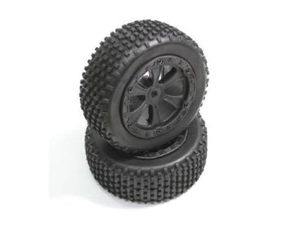 Absima Front Wheel and Tyre Set (2) Buggy  1230033