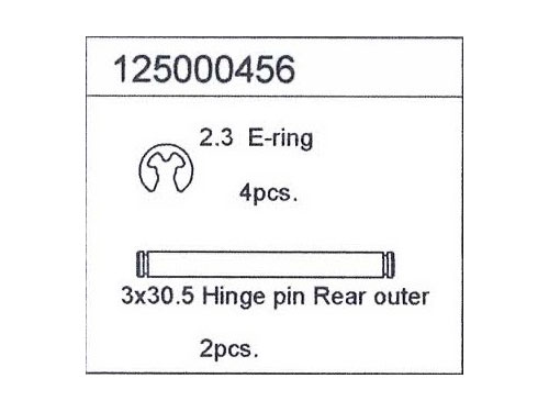 Image Of Ansmann Racing Hinge Pin Rear Outer 3x30,5 mm (2)  - X/XT,Mad Rat, Macnum (#125000456)