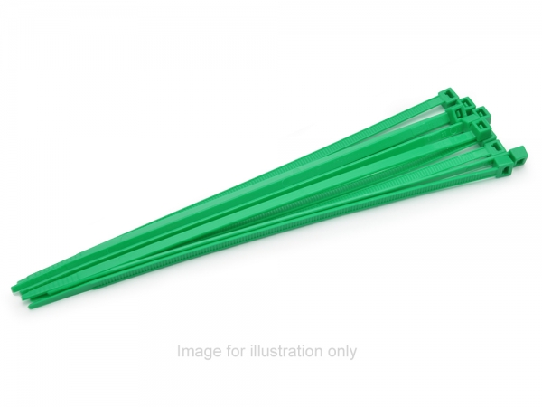 Image Of Ansmann Racing Cable Straps (100x2.5x24mm/100pcs/Green) (#187000140)