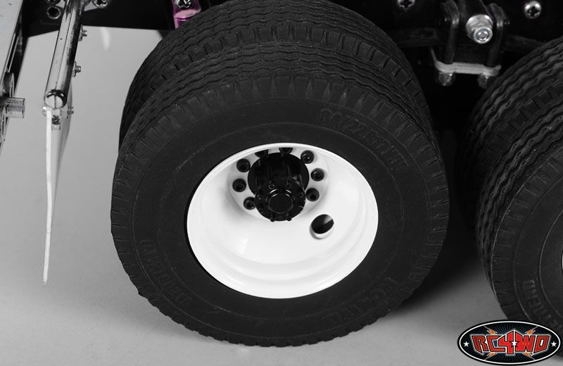 RC4WD ZW0126 Diesel Rear Semi Truck Stamped Beadlock Wheels (2) Z-W0126
