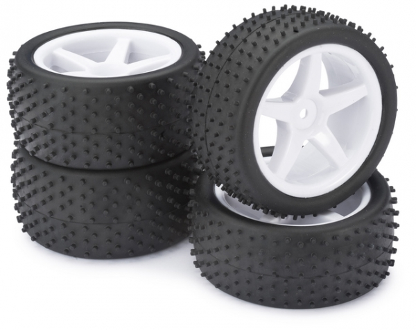 Absima Buggy Wheel and Tyre Set 2500006