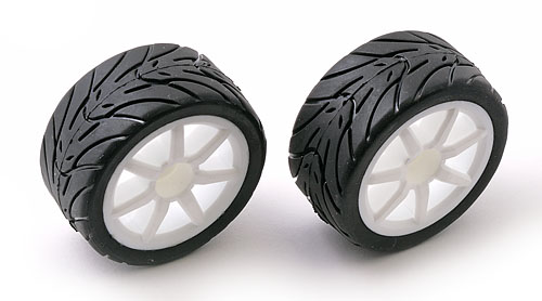Associated RC18 R Pre Mounted Wheels/tyres AS21291