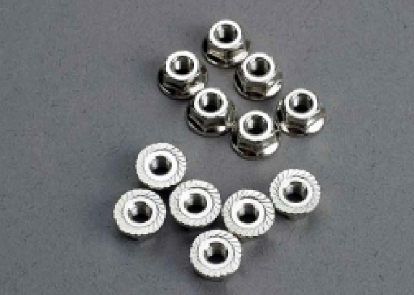 Image Of Traxxas Nuts, 3mm Flanged