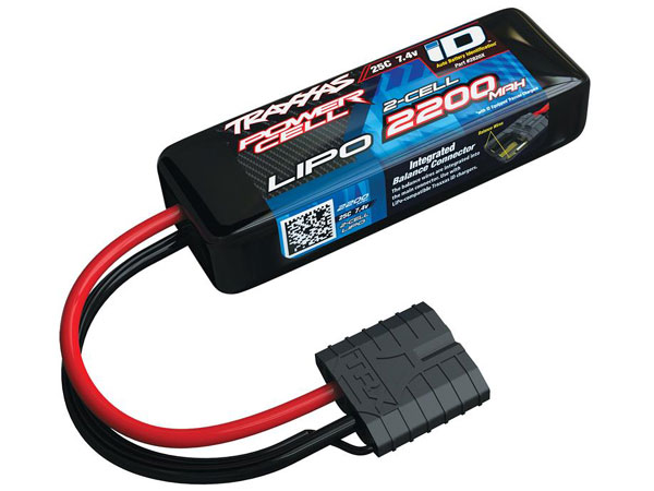 Traxxas 2200mah 7.4v 2-Cell 25C LiPo ID Battery - 1/16 Models 2820X