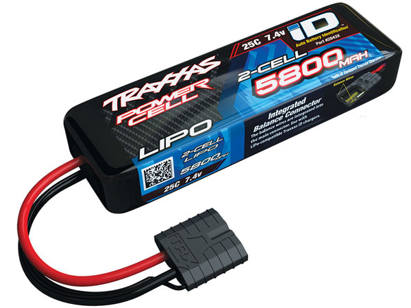 Traxxas 5800mah 7.4v 2-Cell 25C LiPo Battery ID Connector 2843X