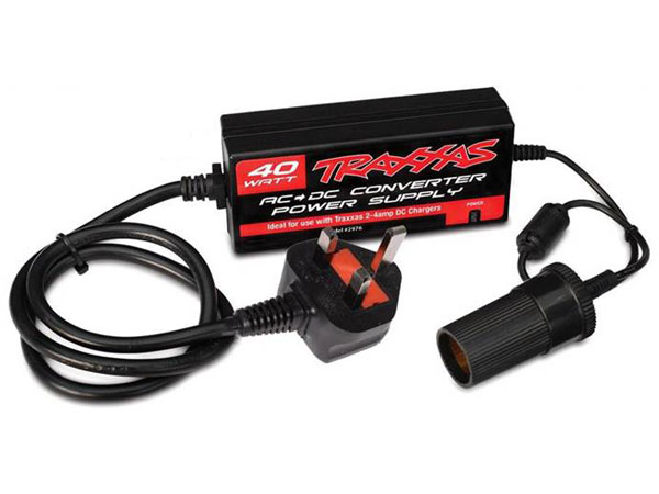 Traxxas AC To DC Mains Power Supply 40W - UK 2976T