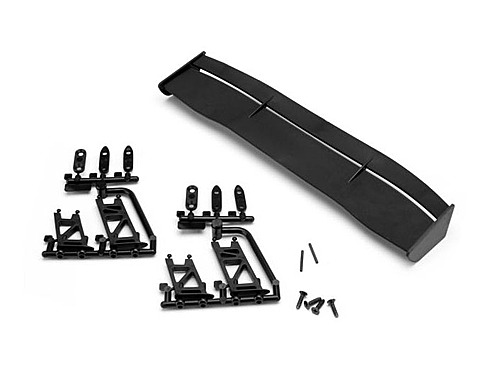 HPI Gt Wing Set (type E / 10th Scale / Black) 30093